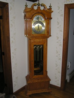 Tall Clock, Hand Made Case, with old Urgos 5 tube chime movement....