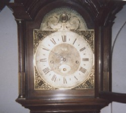 Dial of Eglish Tall Case Clock.