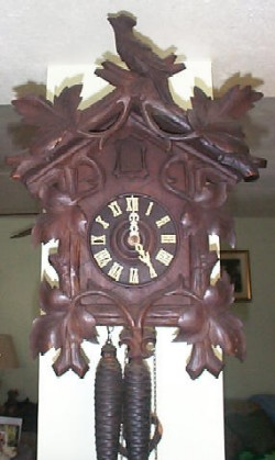 Black Forest Cuckoo Clock, Full view.