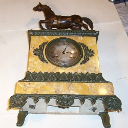 French marble clock.