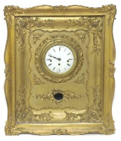 FRENCH PICTURE FRAME CLOCK, Full front view.