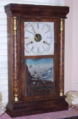 Seth Thomas Column Clock, Full front view.