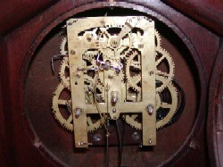 Jerome & Co gothic clock, Movement.